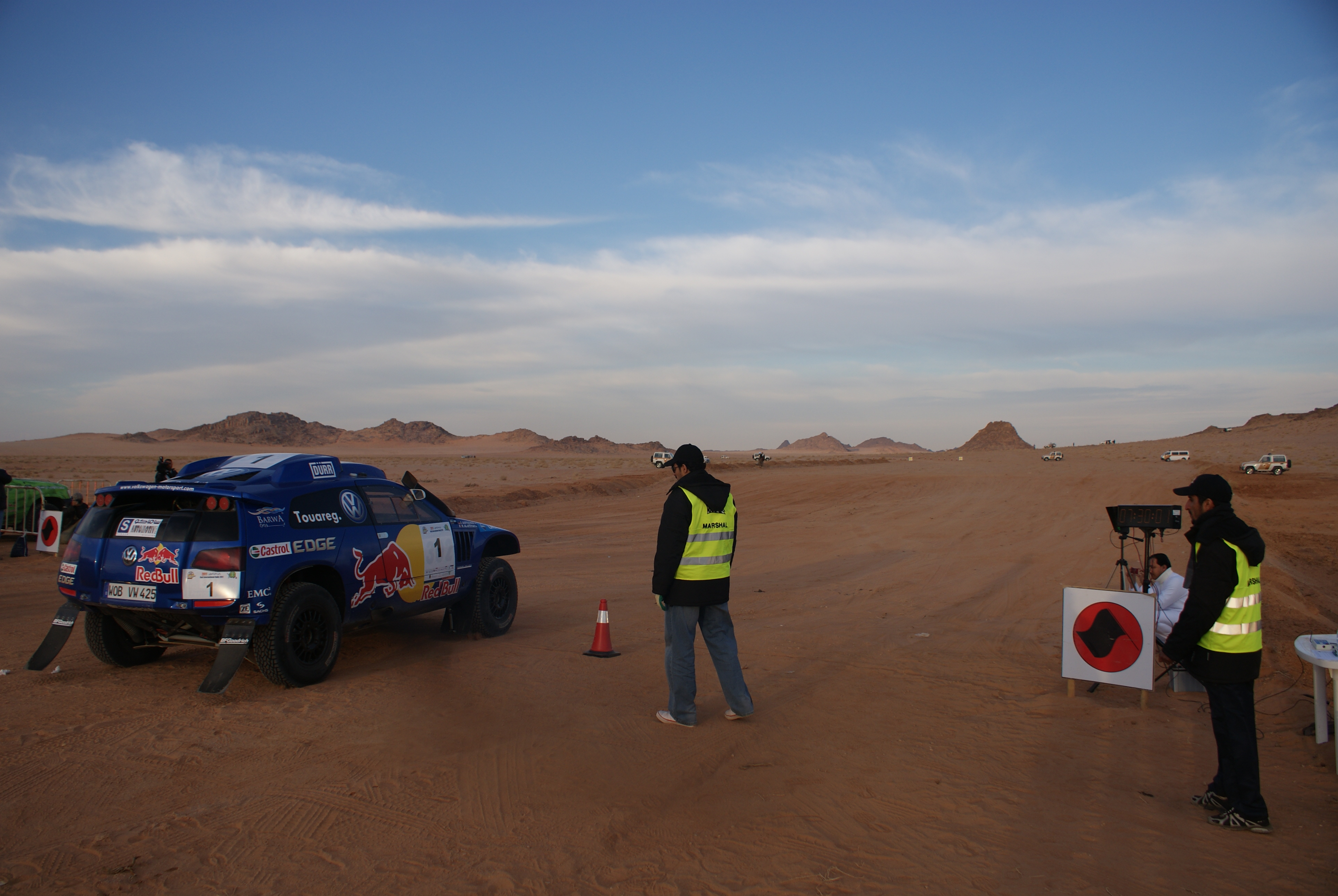 At the start of the desert stage of the Ha'il Rally