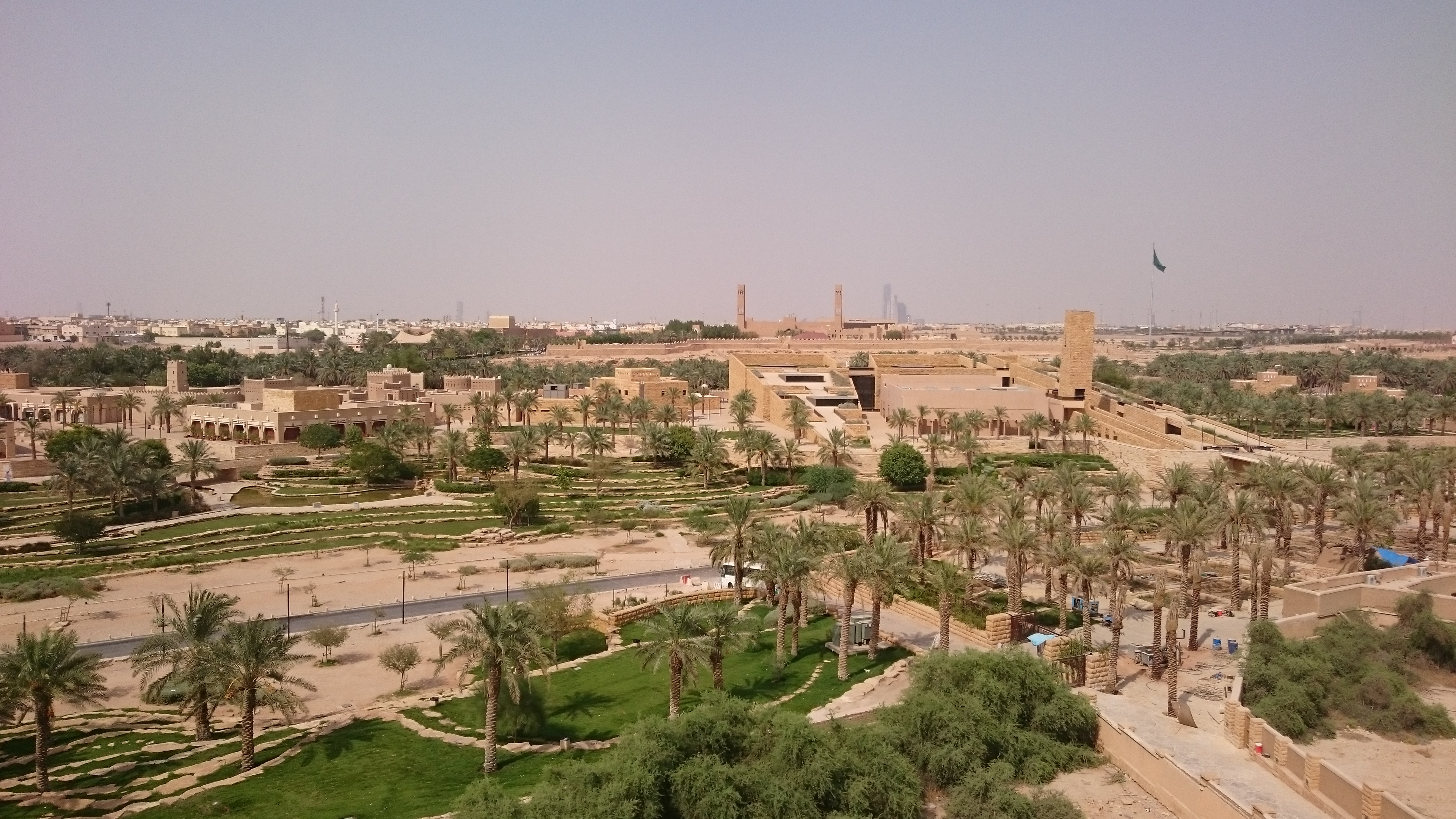 The modern side of Historical Addiriyah, showing the Islamic centre, the terraces, restaurants and shopping area