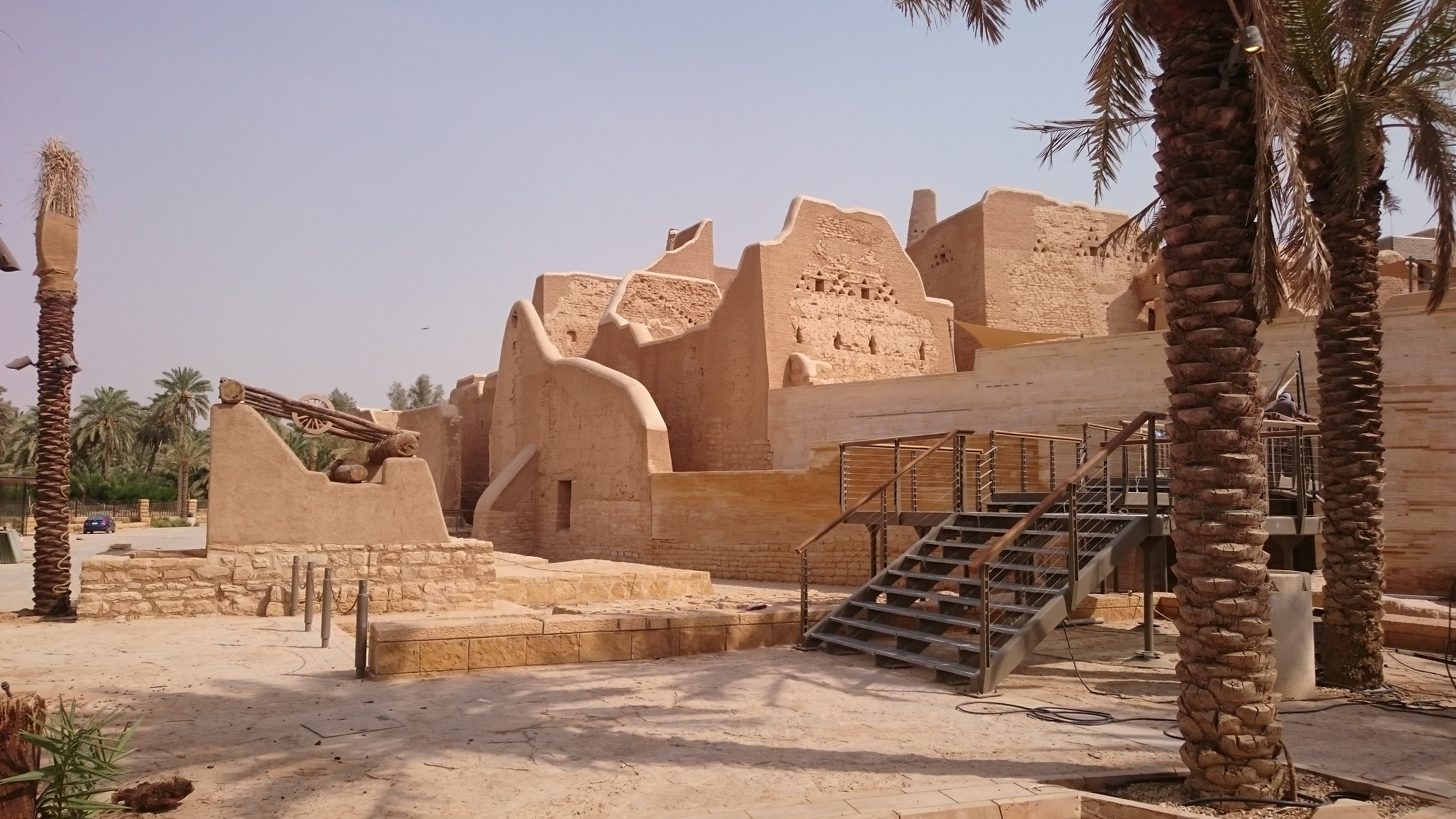 The Salwa Palace at Historical Addiriyah has been preserved rather than restored