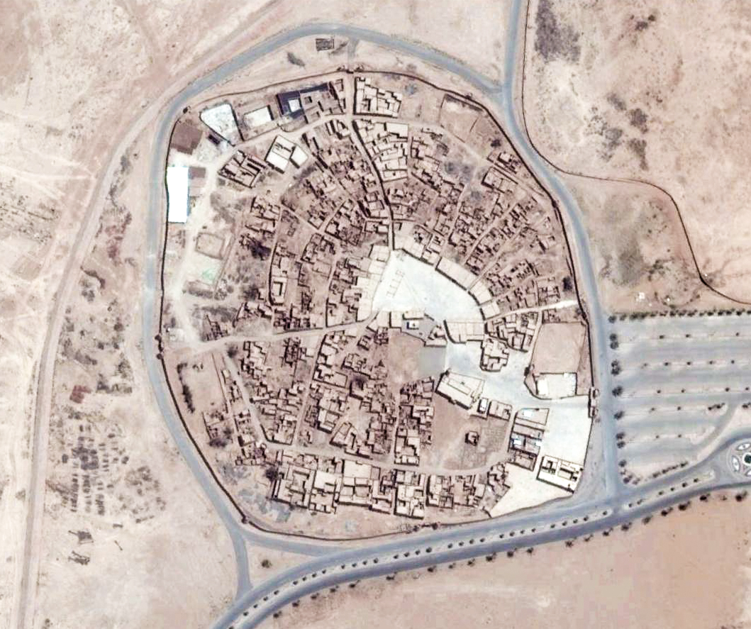 Al-Khabra old town (photo: Google Earth)